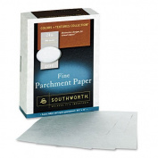 Southworth : Colours + Textures Fine Parchment Paper, Grey, 24lb, Letter, 500 per Box -:- Sold as 2 Packs of - 500 - / - Total of 1000 Each