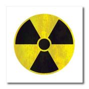 Houk Digital Design Symbols - Radioactive Grunge Sign on white background - Iron on Heat Transfers