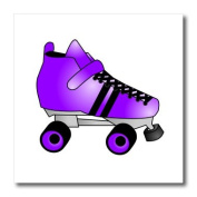 Janna Salak Designs Roller Derby - Skating Gifts - Purple and Black Roller Skate - Iron on Heat Transfers