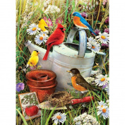 Junior Small Paint By Number Kit 20cm - 1.9cm x 30cm -Garden Birds