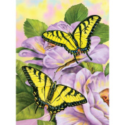 Junior Small Paint By Number Kit 20cm - 1.9cm x 30cm -Swallowtail Butterflies