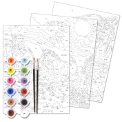 Horizon Group Horse, Dolphin and Dog Paint by Numbers Kit, 3-Pack