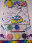Paint Your Own Canvas Craft Kit ~ Smiling Butterfly and Flowers