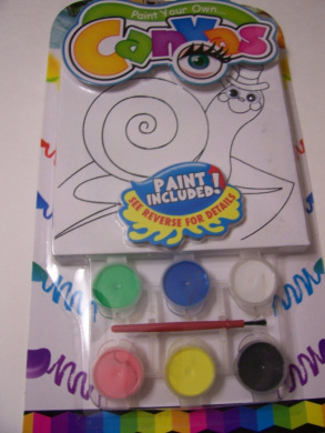 Paint Your Own Canvas Craft Kit ~ Happy Snail in Top Hat (Includes 6 Paints, Paint Brush, Canvas with Wiggle Eyes)