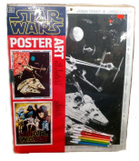 VINTAGE AUTHENTIC STAR WARS Poster Art - 6 colour markers - 17.5 x 22 [ 1977 ]