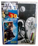 VINTAGE STAR WARS 3-D DARTH VADER Poster Art - 3 colour markers - 17.5 x 22 [ 1978 ]