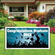 Congratulations Graduate Class of 2013 - 4'x8' Vinyl Indoor/Outdoor Banner