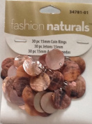 15 mm Coin Rings - 30 pieces - Fashion Naturals -34781-01