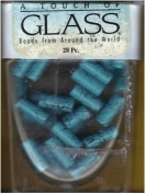 A Touch of Glass - 6x15mm Turquoise Beads - 28 pc