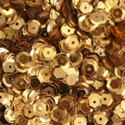 5mm CUP SEQUINS ~ GOLD Metallic ~ Loose paillette sequins for embroidery, applique, arts, crafts, bridal wear and embellishment. Made in USA