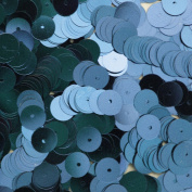 8mm Flat Round SEQUIN PAILLETTES ~ Metallic LIGHT BLUE~ Loose sequins for embroidery, bridal, applique, arts, crafts, and embellishment. Made in USA.