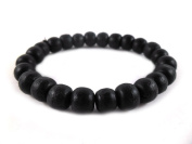 Thai Buddhist Wooden Prayer Blessed Beads Mala Black colour Wristband Bracelet from Thailand