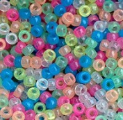 JOLLY STORE Crafts Multi Colours Glow in Dark 7x4mm Mini Pony Beads, 1000pcs