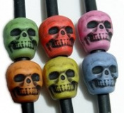 JOLLY STORE Crafts Skull Beads Multi Colours 100pc
