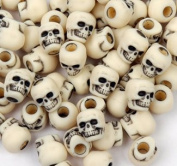 JOLLY STORE Crafts Skull Beads Antiqued Ivory colour 100pc