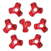 Christmas Red Tri-Shaped Beads