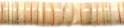 Shipwreck Beads Melon Heishi Shell Beads, 4-5mm, Yellow