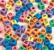 School Smart Cubed-Shaped Uppercase Alphabet Beads - 7 mm - Pack of 150 - Assorted Colours