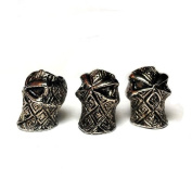 Moxx 5 Metal Skull Beads for Paracord Projects