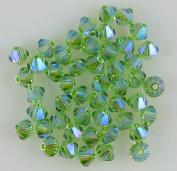 48 4mm. crystal bicone 5301 Peridot AB2X