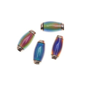 Mirage Colour Changing Mood Beads - Tapered Tubes 12x6mm