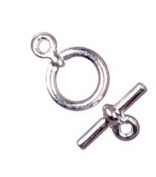 Cousin Silver Elegance 11mm Toggle - Small Round - 1 Set/Sterling Silver