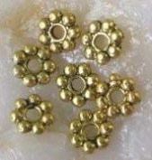 1000PCS Of Antiqued gold plated metal daisy spacer beads 4mm