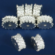 Bali Spacer Beads Silver Plated Beading 10mm Approx 8