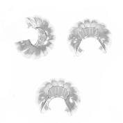 Silver Plated Fluted Crimp Bead Covers 4mm