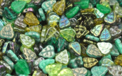 50 Green Mix Czech Glass Leaf Beads 10MM
