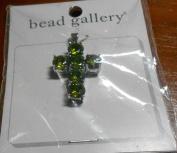 Bead Gallery Peridot Cubic Zirconia Cross