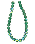 Tennessee Crafts 3054 Glass Beads, Round, Ocean Green, 8mm