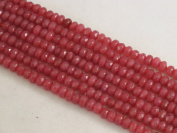 Mountain Jade (Dyed) Red Colour 4x6mm Rondelle 100pcs 15.5'' Per Strand