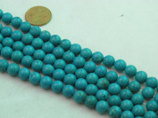 Nature Chinese Turquoise Round Blue 8mm 16'' Per Strand 49pcs