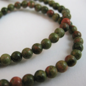 Unakite Beads - Smooth Round 4mm