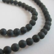Black Gemstone - Matte Finish 4mm