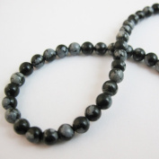 Snowflake Agate Beads - Smooth Round 4mm