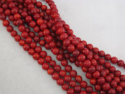 Coral Beads Bamboo Coral Dyed Red Colour 6mm Round 70pcs 16'' Per Strand