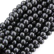 """10mm hematite round beads 16"""" strand"""