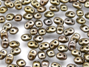 20gr Czech Two Hole Seed Beads SuperDuo 2,5x5 mm GREY METALLIC MAT