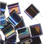 Miyuki Tila Beads Medium Blue Iris 7.2 Gramme Tube