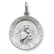 Sterling Silver Our Lady of Perpetual Help Medal. Metal Wt- 2g