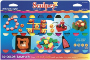 Sculpey III Polymer Clay Colour Sampler 30ml 30/Pkg-Assorted Colours Sculpey III Polymer Clay Colour Sa