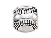 Zable(tm) Sterling Silver Baseball Bead / Charm