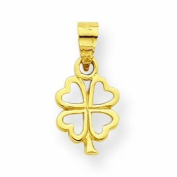 Genuine 10K Yellow Gold Four Leaf Clover Charm 0.4 Grammes Of Gold
