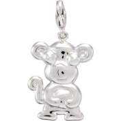 Charming Animals Monkey Charm in Sterling Silver