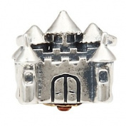 Beads and Dangles European Sterling Silver Charm Bead Castle-Fit all brands European Charm Bracelets
