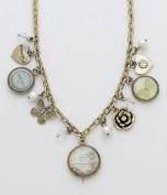 Vintage Style Charm Chain Necklace - Fluer Botanique