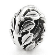 Ohm Olive Branch European Bead