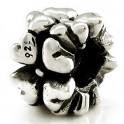 Ohm Heart Flower European Bead